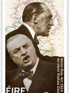 Home Rule leaders brought together......on a stamp