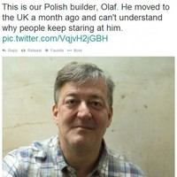 Here's how Stephen Fry was tricked into mistaking himself for a Polish builder
