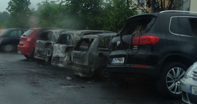 Six cars set on fire in housing estate car park in Lucan