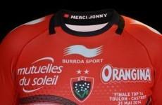 'Merci Jonny' - Toulon pay tribute to Wilkinson on Top 14 final jerseys