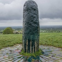 The famous standing stone on the Hill of Tara was vandalised last night
