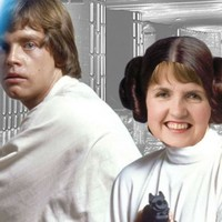 Princess Leia and Joan Burton are on the Saturday Night Show this week