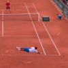 Here's the incredible horizontal diving shot Gael Monfils delivered at Roland Garros