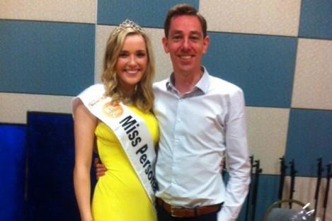 Miss GAA Laura McCormack with Ryan Tubridy.
