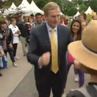Enda Kenny dad-dances to Happy with some teenagers