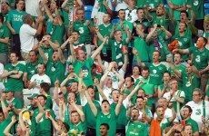 So what's it like supporting the Irish team from abroad?