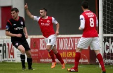 Fagan stars with hat-trick as Derry ship five away to St Pat's