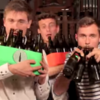 Lads perform Billie Jean using only beer bottles... and it's actually quite good