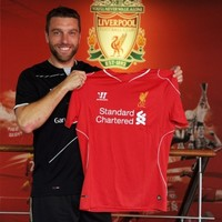 7 pictures of new Liverpool signing Rickie Lambert looking chuffed beyond belief