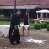 Here's how NOT to open a champagne bottle with a sword