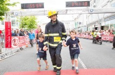 3 hours 41 minutes and 10 seconds for a marathon, in full firefighting gear, in Cork