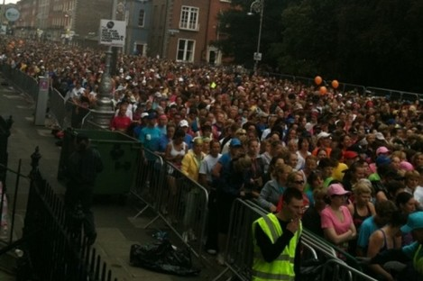 Tens of thousands taking part in the 2011 Flora Womens' Mini Marathon