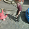 Two guys faked an axe murder in front of the Google Street View car