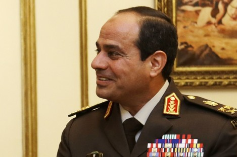 Abdel Fattah al-Sisi during his time as Defense Minister.