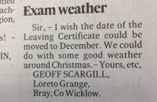 Unhelpful Leaving Cert letter in the Irish Times today