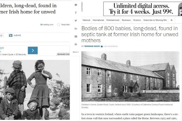 The world is talking about Tuam's 800 dead babies · TheJournal ie