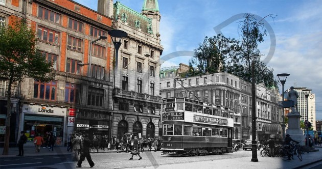 6 Irish street scenes captured in evocative then-and-now photographs