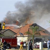 Pilot ejects before marine jet crashes into California neighbourhood