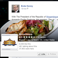 Enda Kenny made a balls of tagging a whole country on Facebook