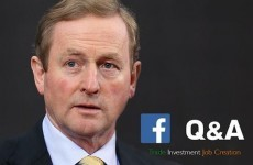 Enda asked for Facebook questions on trade and jobs, but people aren't sticking to the script...