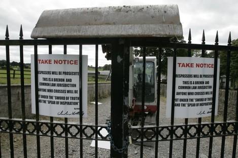 The scene of a disputed repossession in County Kildare