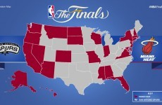Map shows which team every US state is up for in the NBA Finals