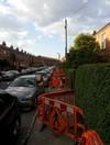 PICS: Water meter works leave footpath almost completely blocked