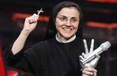 Singing nun wins The Voice of Italy, says the Our Father on stage
