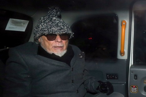 Gary Glitter after his arrest in 2012