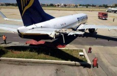 Ground staff blamed as Ryanair plane rolls into a fire station at Rome Airport