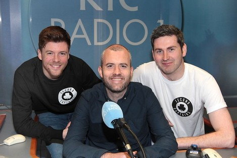 The Second Captains team in their new radio home.