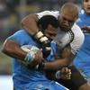 Nemani Nadolo gets out his kicking boots to help Fiji to win over Italy