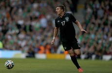 Ireland's Stephen Ward jets in for a date with Cristiano Ronaldo
