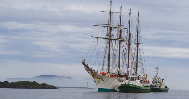 Ahoy! One of the world's largest tall ships arrives in Dublin