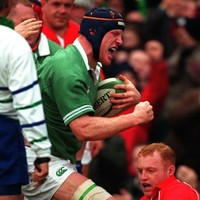 Ahead of his 100th Test cap, here is Paul O'Connell's debut try for Ireland