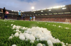 Hailstones the size of Marouane Fellaini's afro caused Belgium's warm-up match to be suspended