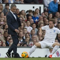 Jose Mourinho took out Olly Murs in a charity football game tonight