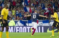France scored eight (yes, eight) against Jamaica tonight