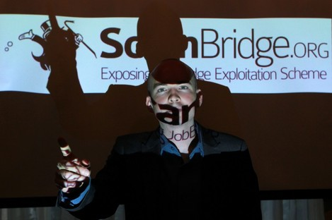 Paul Murphy at the launch of ScamBridge - an anti-JobBridge website launched in 2012.