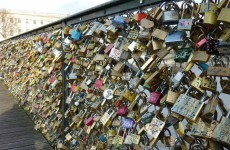 Thousands of 'love locks' caused a bridge in Paris to partially collapse