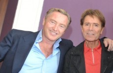 Michael Flatley bro-hugged Cliff Richard and it looked deeply awkward