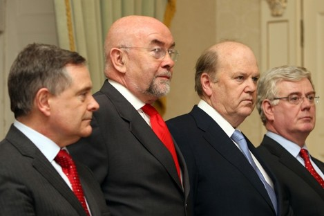 Members of the current Cabinet pictured in 2011.