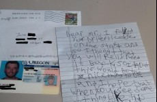 Kid finds lost drivers licence, writes cutest letter ever