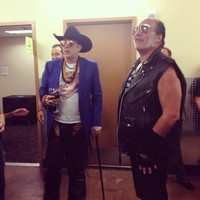 Nicolas Cage went to a Guns N' Roses gig wearing a Nicolas Cage shirt... It's the Dredge