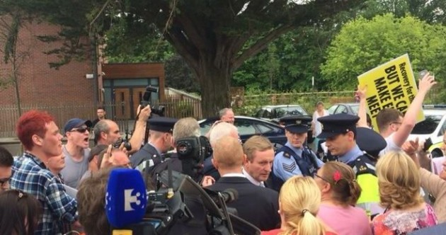 One arrested as angry protesters confront Taoiseach at elderly-care centre