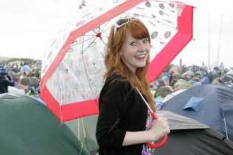 Aisling Orr from Tipperary enjoying Oxegen 2010