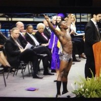 Student strips at graduation and is stripped of his diploma