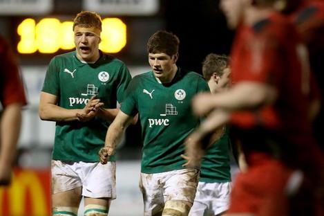 Ross Molony and Ireland U20 captain Jack O'Donoghue.
