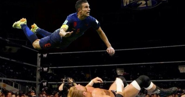 Robin van Persie's goal sparked an epic online Photoshop battle