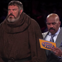 Someone spliced Hodor from Game of Thrones into an episode of Family Fortunes